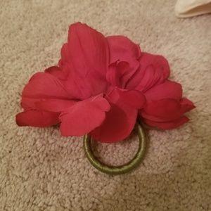 Table Napkins 8 flower ring holders